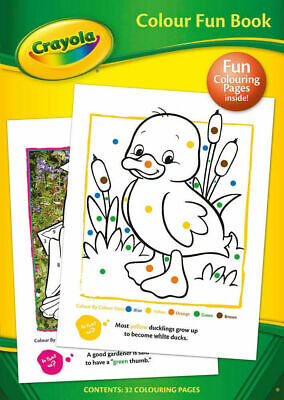 Crayola Colour Colouring Fun Activity Book & Stickers Kids Fun Gift for Birthday