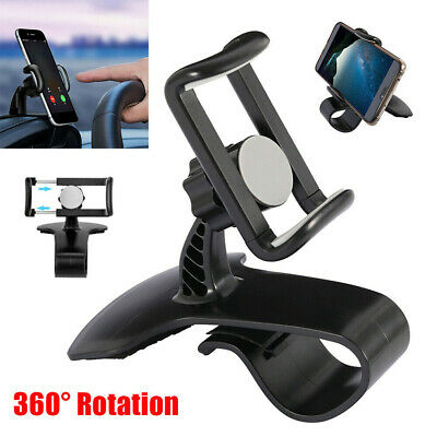 Universal Cell Phone GPS Car Dashboard Mount Holder Stand Hud Clip on Cradle US