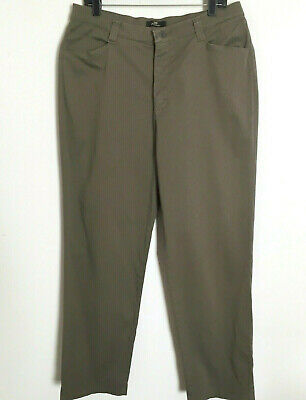 Lee Khakis Pants Womens Size 16 Brown Stretch Chinos Casual Straight Leg