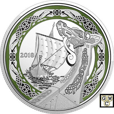 2018 'Northern Fury -Norse Figureheads' Prf $20 Fine Silver 1oz. Coin(18356)OOAK