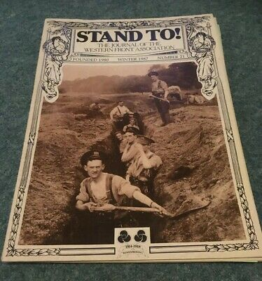 Stand To !  WW1 Magazine Winter 1987   Number 21 With Bulletin World War One