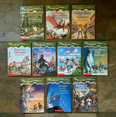 Lot of 10 MAGIC TREE HOUSE Mary Pope Osborne Chapter Books  RL 2.2  6-9 yrs