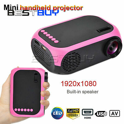 LED Projector Mini Handheld Projector HD 1080P Home Theater HDMI/USB BBC
