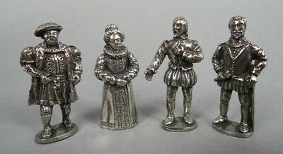 Gadsbodikins! Four Figures of Famous Tudors in Fine Pewter!
