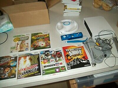 Nintendo Wii System Console Bundle + 9 Games, Working 100% Lot #1