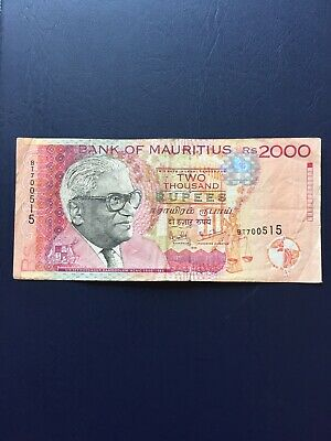 Mauritius 2k Denomination Bank Note. Ideal For Collection