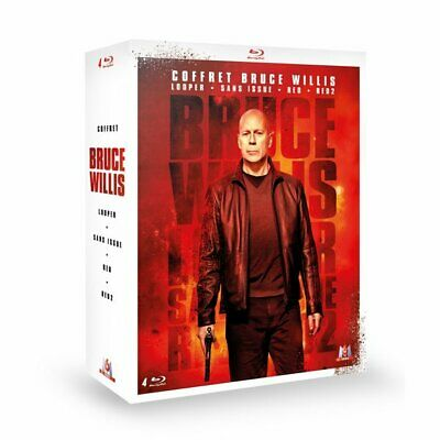 Blu-ray - Coffret Bruce Willis : Looper + Sans issue + RED + RED 2 [Blu-ray] - B