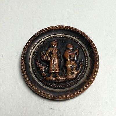 Victorian Metal Picture Button - The Waits