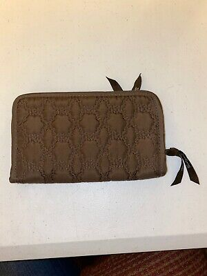 Thirty One 31 Brown Quilted Wallet ~ Zip Around