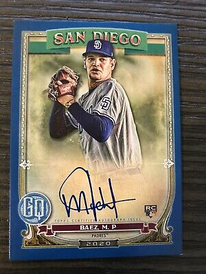 2020 Topps Gypsy Queen Michael Baez Autograph Card Blue 67/150 Rookie Padres
