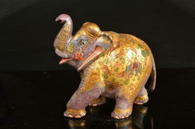 A1948: Chinese Stone elephant-shaped ORNAMENTS object art work Animal pattern