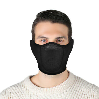 Cold Weather Thermal Fleece Ear Warmer Motorcycle Cycling Ski Half Face Shield