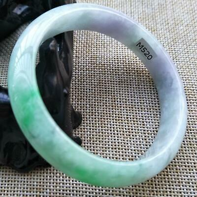 10% OFF- 55/56/57 mm Certified Natural Jadeite Emerald Jade Bangle《Grade A》M520