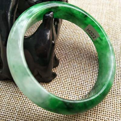 10% OFF- 55/56/57 mm Certified Natural Jadeite Emerald Jade Bangle《Grade A》H222