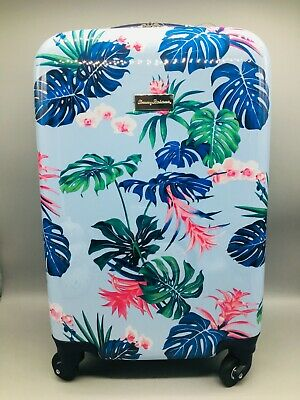 """Tommy Bahama Michelada Blue Frond Carryon Spinner Hardside Suitcase Luggage 20"""""""