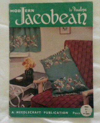"RETRO ~ ""MODERN JACOBEAN EMBROIDERY"" ~ by Penelope ~ 1960's ~ 16 pages"