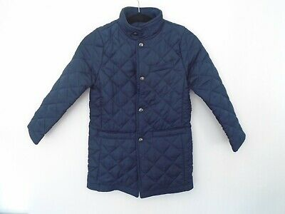 Jasper Conran Girl's 3/4 Quilted/Padded Coat Blue Collared Size 9-10 Years