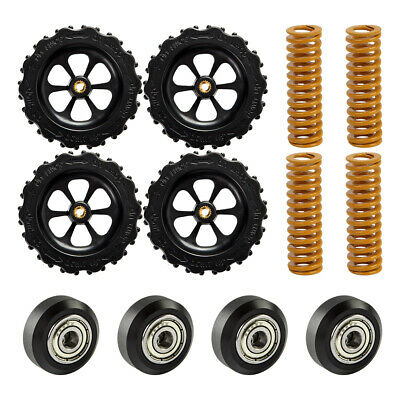 4Pcs Hot Bed Leveling Nuts Springs Pulleys For Creality Ender 3 Pro CR-10 V2