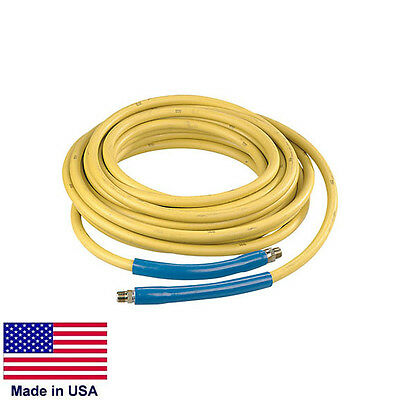 "PRESSURE WASHER HOSE - 100' - 4,000 PSI - 3/8"" Fittings"