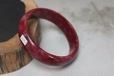 10% OFF- 57/58/59 mm Certified Natural Red Emerald A*Jade Handcarved Bangle B282