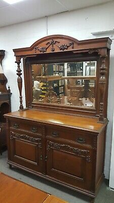 Early 20th century Oak Sideboard With Mirror Back, Shabby Chic Project?
