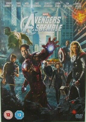 Marvel Avengers Assemble (DVD 2012) Chris Evans Robert Downey Jr FREE P&P