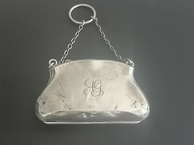 Antique Solid Silver Finger Purse Coin Purse Chester 1916