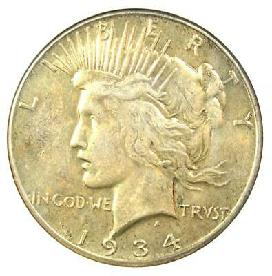 1934-S Peace Silver Dollar $1 - Certified ANACS AU Details - Rare Date in AU!
