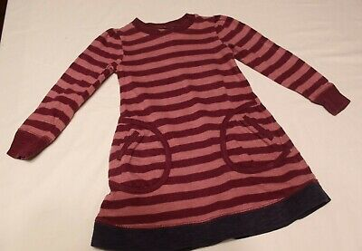 JOULES little girls 4y long sleeve pink striped dress with pockets