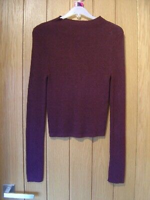 New Look 915 Generation Burgundy Jumper 14/15 years (Ref P) Good condition