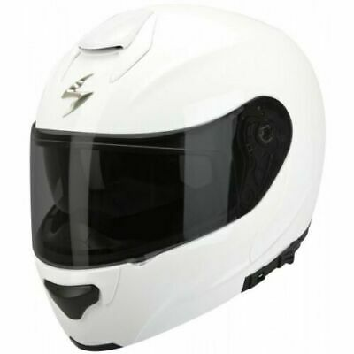 Scorpion EXO 3000 Gloss White Flip Up Front Motorcycle Helmet XL