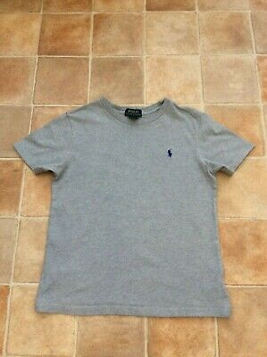 Boys Polo Ralph Lauren Grey T-Shirt Top - Label size 7  Approx fit age 6 years