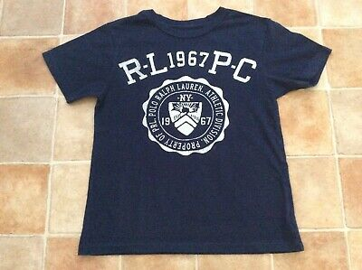 Boys Polo Ralph Lauren Blue T-Shirt Top - Size S (8) Approx fit age 6/7 years
