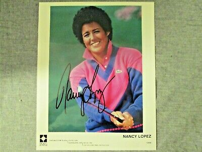 Nancy Lopez LPGA Tour World Golf Hall Of Fame Hand Signed 8x10 Picture w/coa