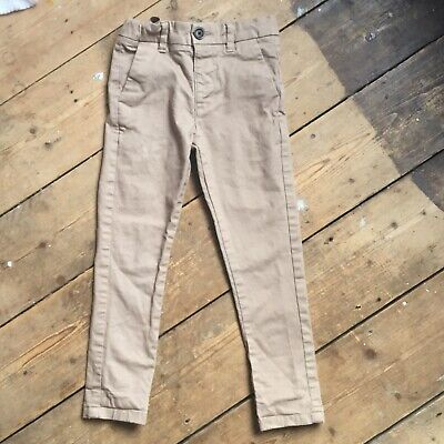 Marks And Spencer Boys Beige Trousers Age 3-4 Years Skinny