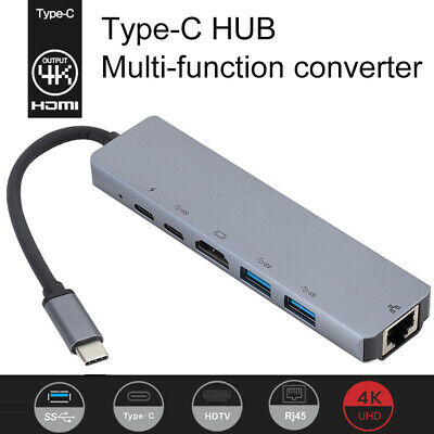 6 in 1 USB 3.1 TypeC to HUB HDMI 60HZ  + USB 3.0 x 2 Fit for MacBook