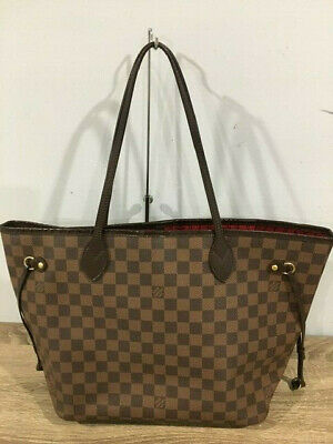 LOUIS VUITTON Brown Damier Ebene Canvas Neverfull MM Tote Bag