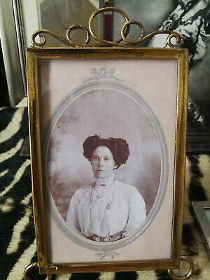Pretty Edwardian, Arts And Crafts Brass Photo Frame