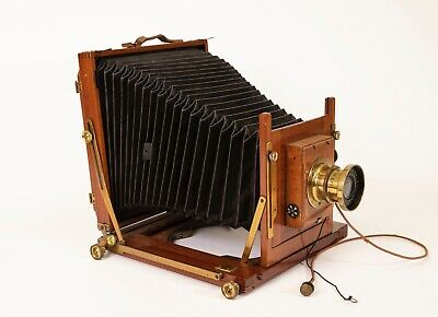 Large Format Antique Camera in excellent condition with backs