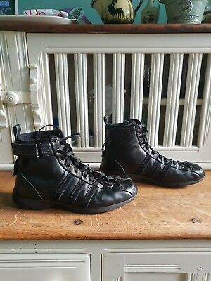 Adidas Black Torsion System High Top Boots Size 6 1/2