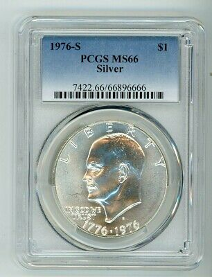 1976 S Silver Eisenhower Dollar $1 Pcgs Ms66 66896666