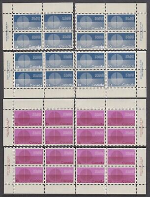 CANADA 2 SETS OF MNH PBs 513 & 514 10c & 15c UNITED NATIONS - ENERGY UNIFICATION