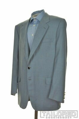 BRIONI Traiano Blue Check SILK CASHMERE Blazer Sport Coat Jacket - EU 58 US 48 L
