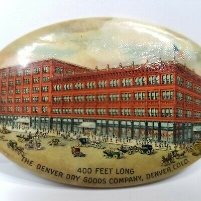 Denver Dry Goods Company Advertising Pocket Mirror Celluloid Department Store