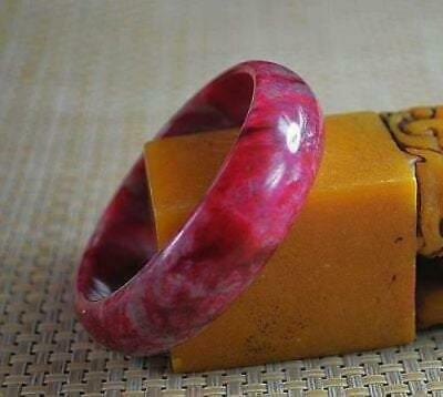 10% OFF- 58/59/60 mm Certified Natural Red Emerald A*Jade Handcarved Bangle X30
