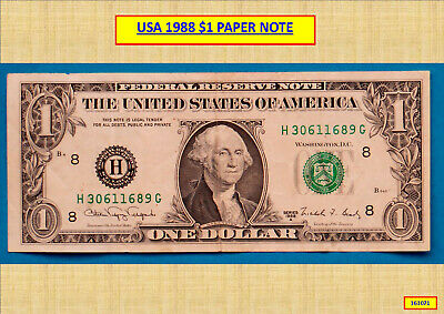 1988 $1 United States America Federal Reserve Banknote 161071