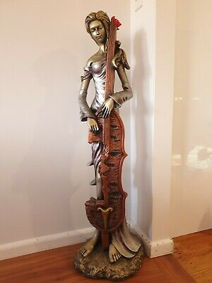 Woman with Cello Statue