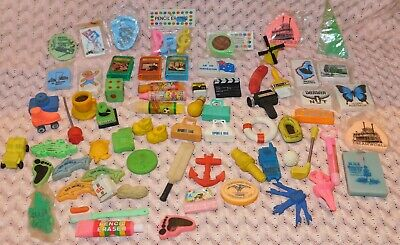 Vintage Retro Bulk Lot 69  rubbers erasers collectable  Pencil Rubber Eraser