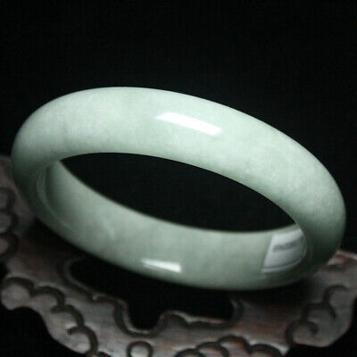 62mm Certified (Grade A) Natural Green Jadeite JADE Bracelet Bangle 1936