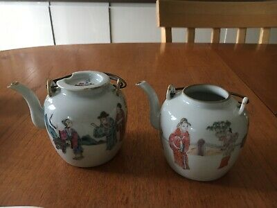 2 Antique Old Chinese Teapots